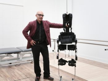 Paralyzed Man Walks with Brain-Controlled Exoskeleton